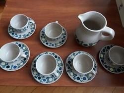 Városlődi majolika kerámia teáskészlet teás készlet