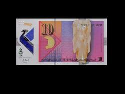 UNC - 10 DENARI - MAKEDÓNIA - 2018 - POLIMER BANKJEGY (Új pénz!)