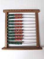 Régi játék fagolyós számoló tábla vintage golyós számolótábla retro oktató fajáték