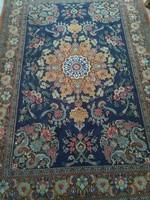 Isfahan virág és boteh mintás antik szőnyeg