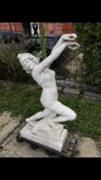 Art deco táncos nő márványszobor