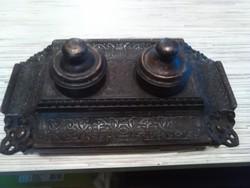Antik bonzirozott tintatartó kalamáris