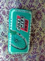 Régi Rema Tiptop kerékpáros gumiragasztó fém doboz