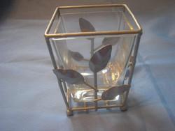 Díszes,antik svéd üveg mütyüröknekr vagy. tolltartónak