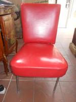  retró műbőrbevonatú szék