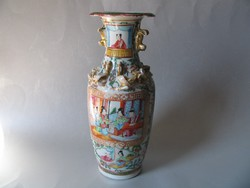 Antik kínai váza (Famille rose) 19. század - 26 cm