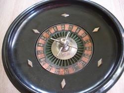 Régi asztali rulett játék