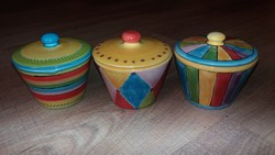 Minőségi magyar kerámia fűszertartók, kézzel festett, jelzett
