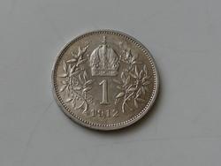 1 corona 1912 SCHWARTZ osztrák EF