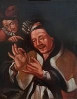 Igazi antik ritkaság. 17.századi festmény. Holland festő műve, 1600as évek első feléről. 51x41cm.