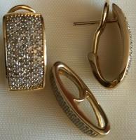 1.5ct gyémánt 282 db 585/14kr arany szett
