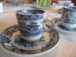Antik Villeroy&Boch Wallerfangen kávéscsésze alátéttel, 2 szett