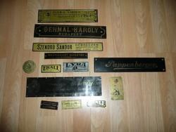 RITKASÁG!!! Antik hangszer gyártó és forgalmazó réz ill.fa cégérek / táblák egyben eladók
