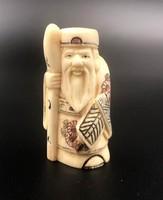 Csont rendkívül részletes kézzel készített japán Netsuke