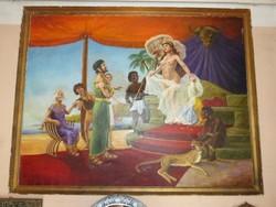 Nagyméretű Kleopátra és Antóniusz - Festmény