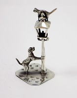 Ezüst cica-kutya miniatűr (ZAL-BI37491)