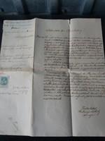 Tekintetes Kir. Járásbíróság 1902-ből Irat