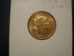 Franciaország arany 20 frank!! 1903