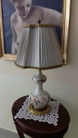 Zsolnay porcelán lámpa pillangó mintás