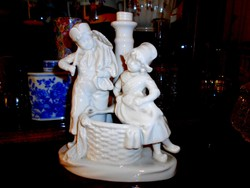 Antik német porcelán lámpatest 20 cm