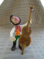 Különleges nagybőgős figura - Muranoi  dekoratív műalkotás 12 cm