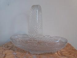 Hatalmas üveg asztalközép, gyümölcskosár