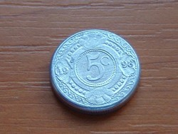 HOLLAND ANTILLÁK 5 CENT 1998  ALU. KICSI 16 mm #