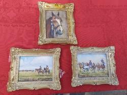 Csodálatos Gross jelzésű lovas, csikós festmények.