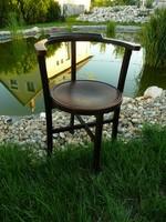 Nagyon ritka, jezett körpecsétes eredeti antik asszimetrikus Art Deco Thonet szék