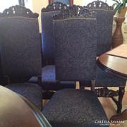 Neoreneszánsz székek - 4 db - felújított állapoban