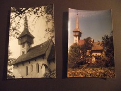 CSARODA. Református templom, 2 db képeslap, fotó