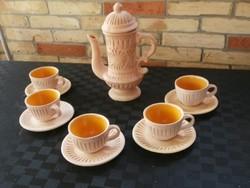 Terrakotta kávéskészlet