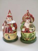 Villeroy & Boch karácsonyi mécsestartó figurák 2 db