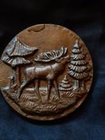 Aluminium falidísz, bronz festéssel