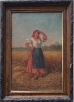 Szobonya Mihály (1855-1898 ) Eredeti festménye Garanciával