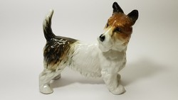 ENS kutya porcelán figura