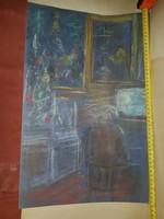 Varga Ferenc hagyatéka, tempera, akva, pasztell, grafika vegyesen, méret jelezve