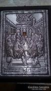 Fémlemezből készült Görög Szentkép