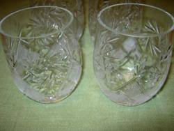 4 db kristály vizes üdítős pohár retro