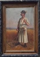 Szobonya Mihály (1855-1898 ) 1894 es festménye Eredeti Garanciával