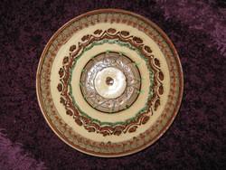 Kerámia, tál  tányér,  25,5 x 5cm, 93.
