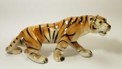 Royal DUX tigris porcelán figura