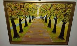 Fasor ősszel, keretben