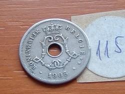 BELGIUM BELGIE 5 CENTIMES 1905 115.