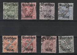 Deutsches Reich 0195  Mi Hivatalos 57-64    36,00 Euró