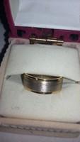 Arany karika gyűrű modern kézzel készült 6 gr. jegygyűrű ÚJ