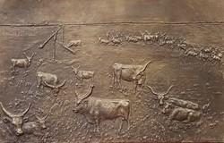 Domonkos Béla: Alföld bronz dombormű