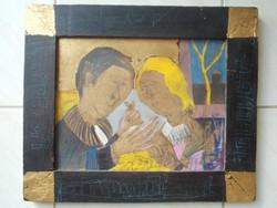 Kondor Béla Szerelmi jelenet című festménye