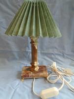 Extrém ritka,retro,vintage ,oroszlán réz lábakon ,alabástrom talapzatú dekor lámpa,hangulat lámpa