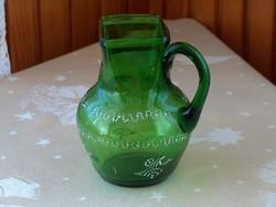 Keresztelő kancsó, zöld huta üveg